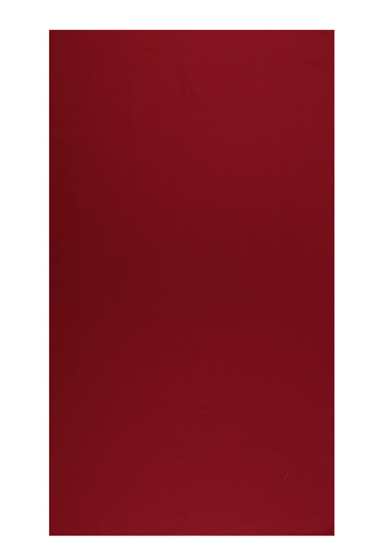 SİMİSSO - Amigurimi Elbise Kumaşı Akfil Pamuk Saten Kumaş 83 Tel   Kırmızı