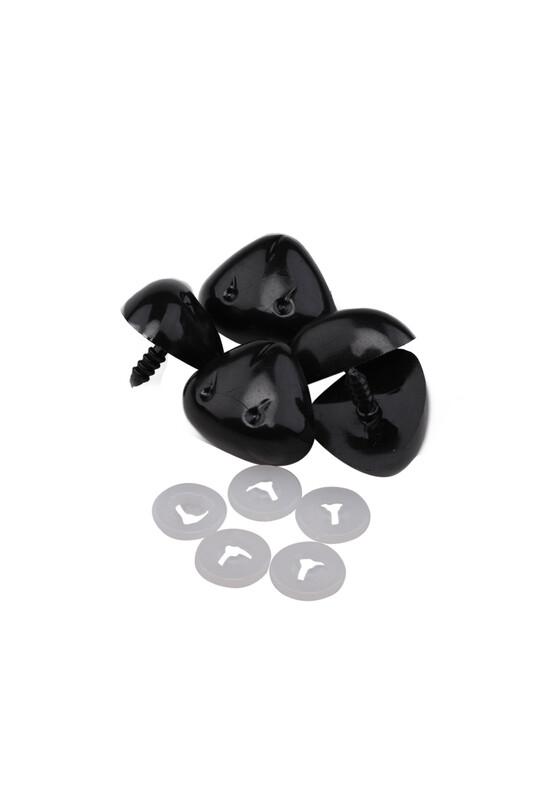 SİMİSSO - Amigurumi Vidalı Burun Siyah 30 mm 5 Adet