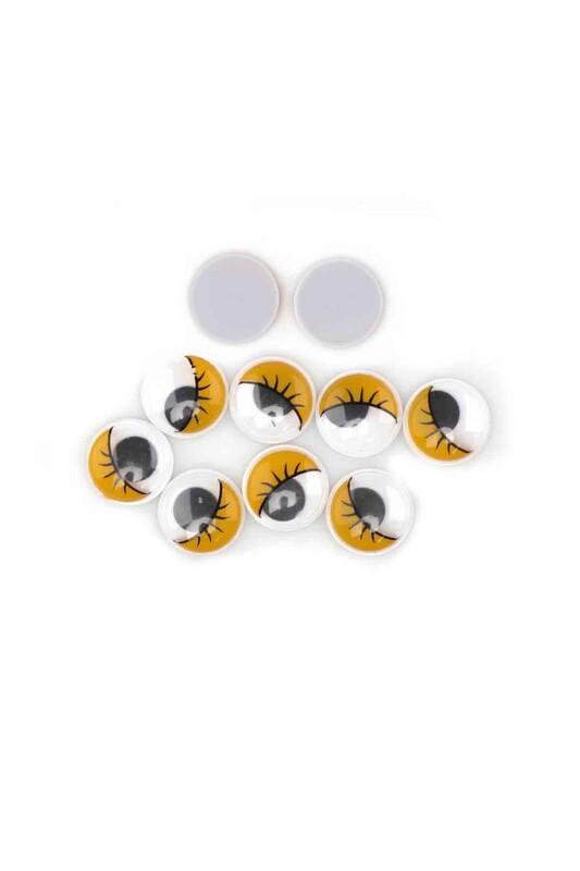 SİMİSSO - Amigurumi Oynar Göz 5 Çift 1,5 cm Sarı