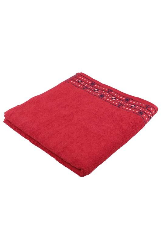 FİESTA - Fiesta Dümen İşlemeli Banyo Havlusu Kırmızı 70*140 284