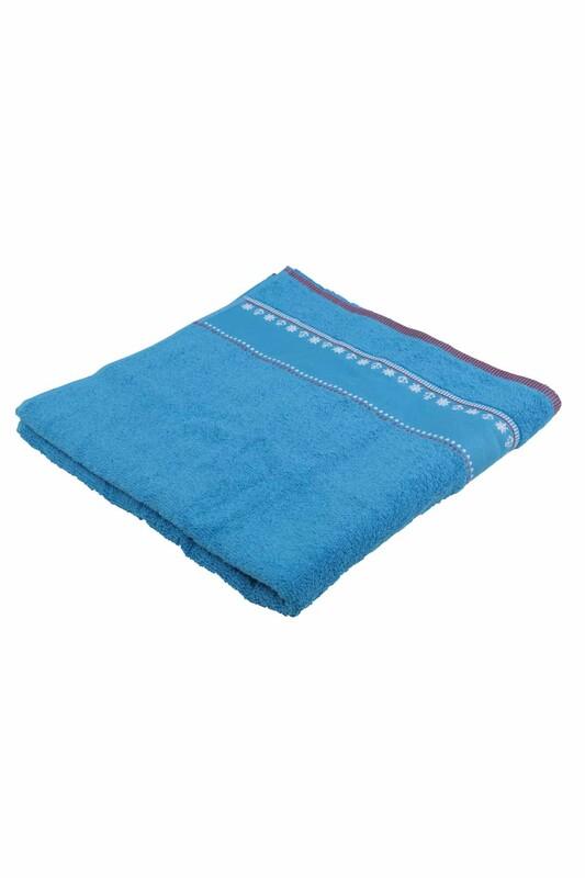 FİESTA - Fiesta Çapa İşlemeli Banyo Havlusu Mavi 70*140 285