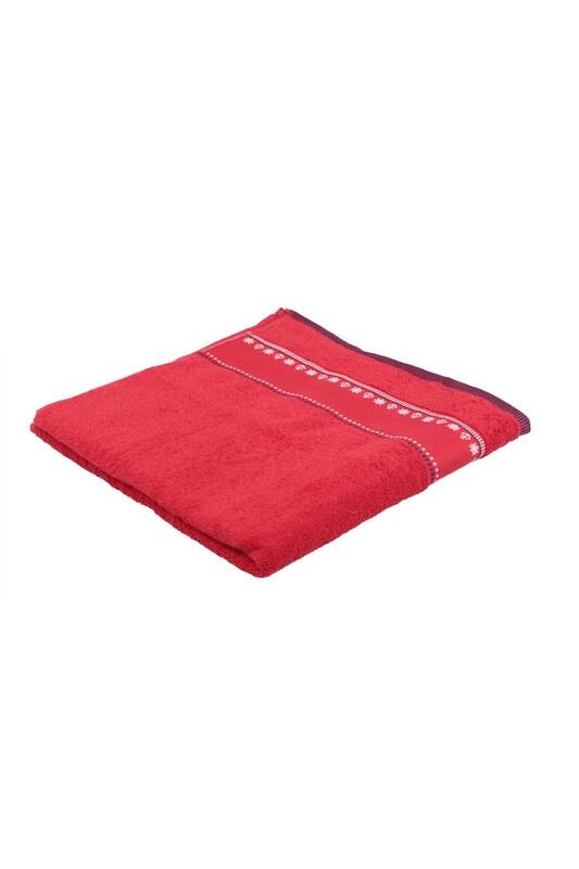 FİESTA - Fiesta Çapa İşlemeli Banyo Havlusu Kırmızı 70*140 285