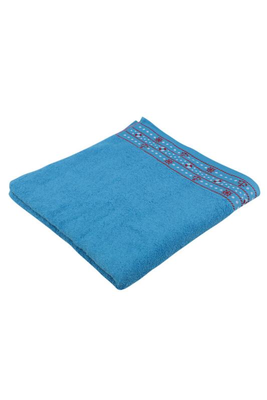 FİESTA - Fiesta Dümen İşlemeli Banyo Havlusu Mavi 70*140 284