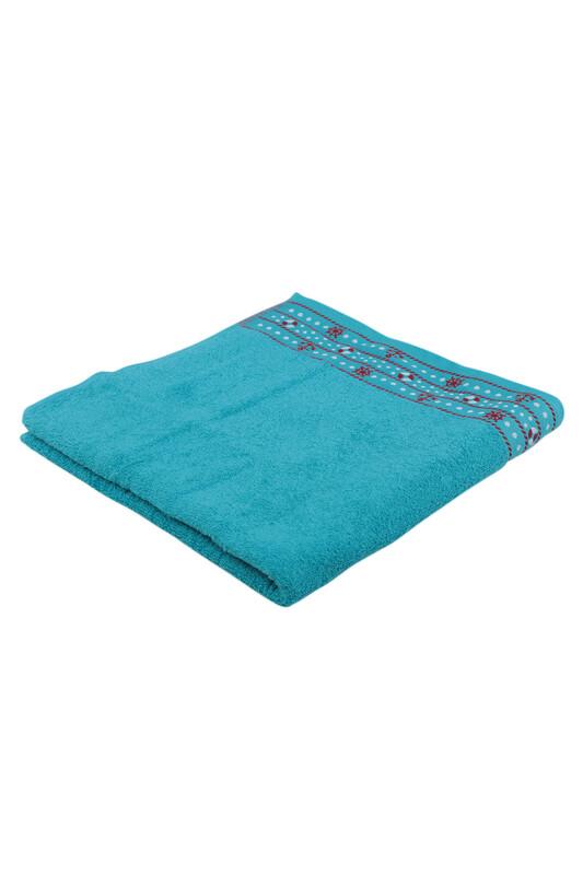 FİESTA - Fiesta Dümen İşlemeli Banyo Havlusu Petrol Mavisi 70*140 284
