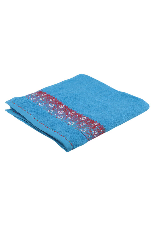 FİESTA - Fiesta Çapa İşlemeli Banyo Havlusu Mavi 70*140