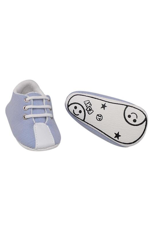 SİMİSSO - Bağcıklı Bebek Ayakkabası | Bebe Mavi