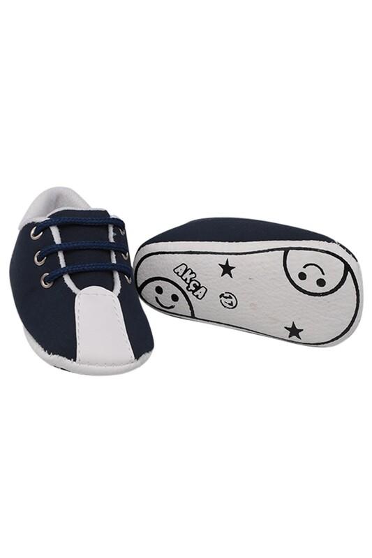 SİMİSSO - Bağcıklı Bebek Ayakkabısı | Lacivert