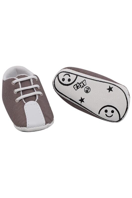 SİMİSSO - Bağcıklı Bebek Ayakkabası | Siyah
