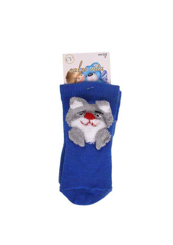 CALZE VİTA - Calze Vita Soket Çorap 006 | Mavi
