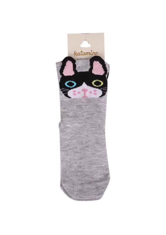 KATAMİNO - Katamino Soket Çorap 003 | Gri