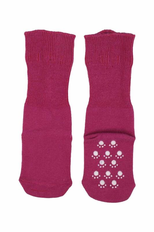 SİMİSSO - Çocuk Soket Çorap 318   Mürdüm