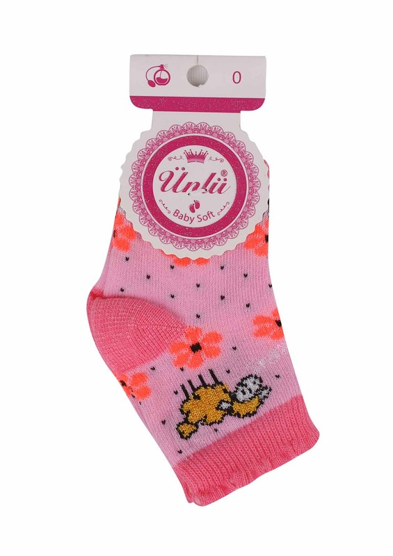 ÜNLÜ BABY - Ünlü Baby Soket Çorap 111 | Pudra