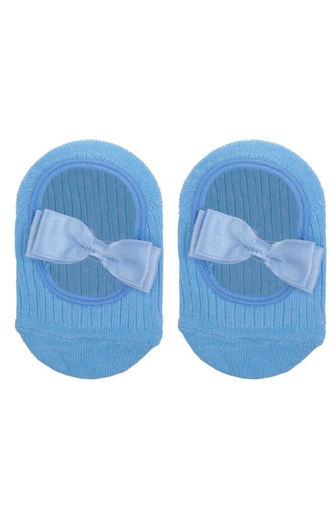 Fiyonklu Kız Bebek Babet Çorap | Bebe Mavi