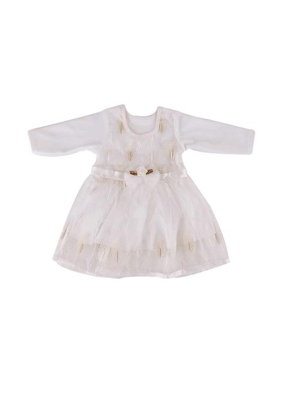 SİMİSSO - Simisso Bebek Elbisesi 782 | Krem