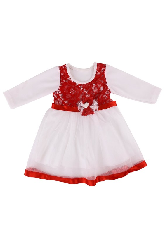 SİMİSSO - Simisso Bebek Elbisesi 784   Beyaz