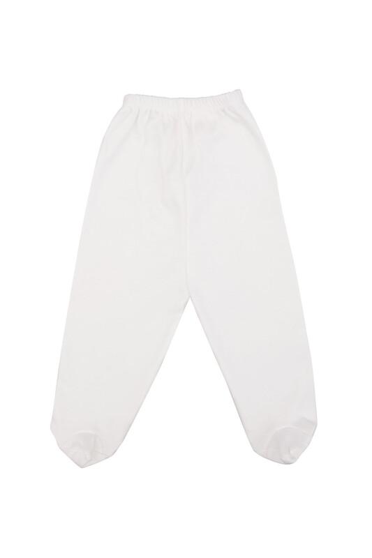 AYMİX BABY - Penye Patikli Zıbın 308 | Beyaz