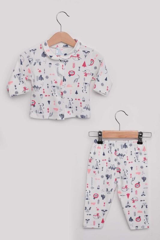SİMİSSO - Kaktüs Desenli Bebek Pijama Takımı | Fuşya