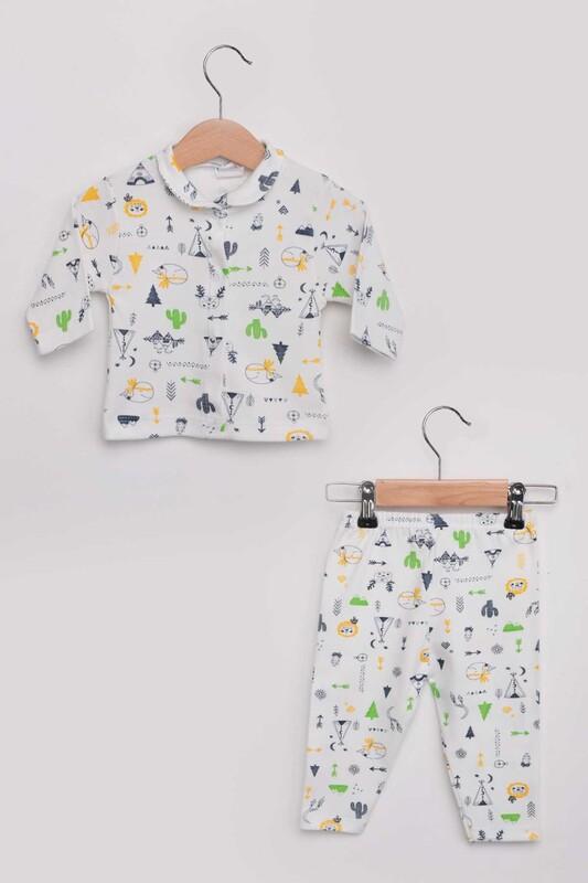 SİMİSSO - Kaktüs Desenli Bebek Pijama Takımı | Sarı