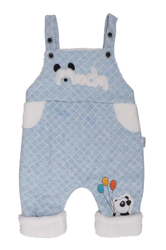 MİLLİON - Panda Nakışlı Bebek Tulum 2223 | Mavi