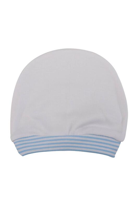 SİMİSSO - Şeritli Bebek Bere | Mavi