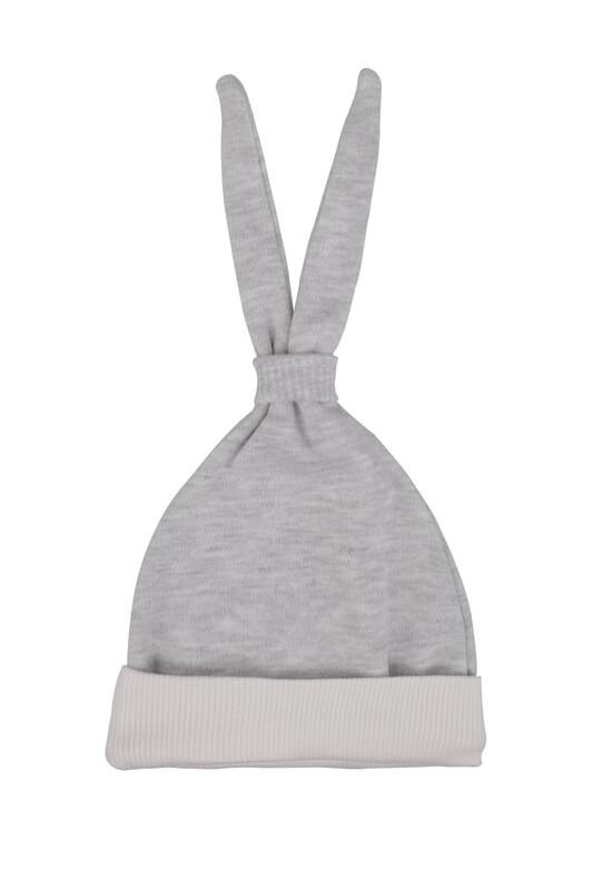 SİMİSSO - Bebek Kulaklı Şapka | Gri