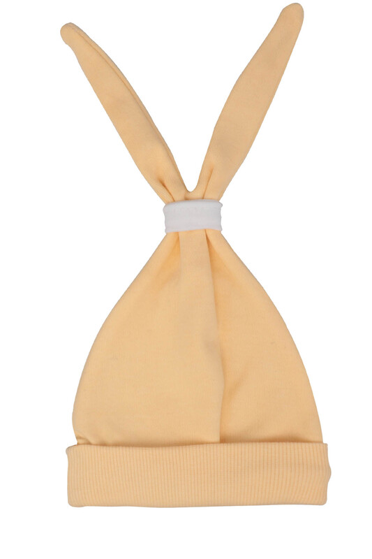 SİMİSSO - Bebek Kulaklı Şapka | Sarı