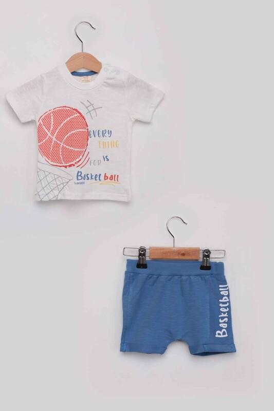 Luminoso - Basketball Erkek Çocuk Şortlu Takım | Mavi