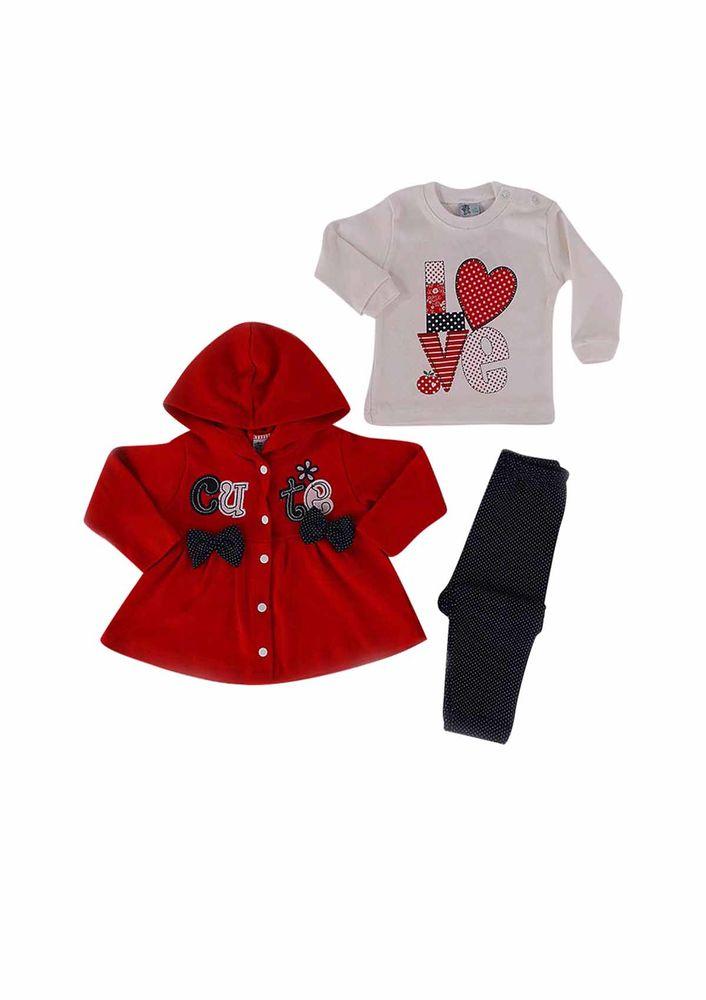 Agumini Bebek Takımı 90018   Kırmızı