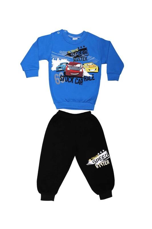 BİLKON - Bilkon Baby Araba Desenli Bebek Takımı 2921 | Mavi