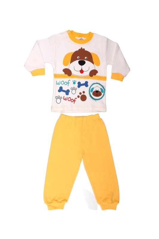 BİLKON - Bilkon Baby Köpek Baskılı Bebek Takımı 2815 | Sarı