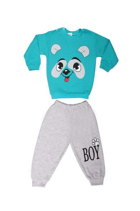 BİLKON - Bilkon Baby Köpek Baskılı Bebek Takımı 2808 | Yeşil