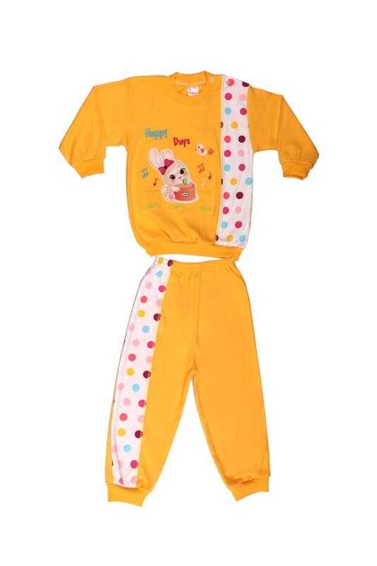 Çağkon - Çağkon Tavşanlı Bebek Takımı 803 | Sarı