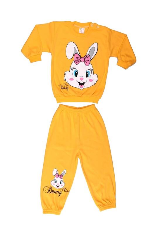 Çağkon - Çağkon Tavşan Baskılı Bebek Takımı 811 | Sarı