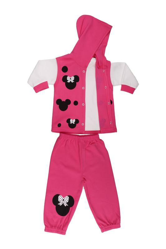 Çağkon - Çağkon Kız Bebek 3'lü Takım 802   Fuşya