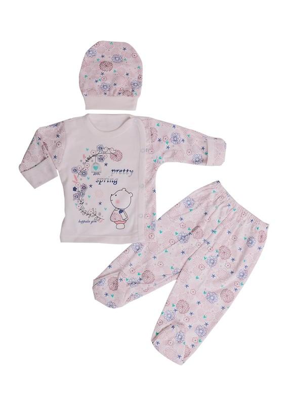 HOPPALA BABY - Hoppala Baby Bebek Takımı 8076 | Pudra