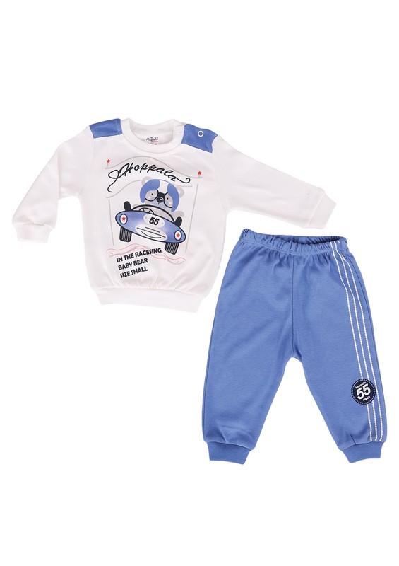 HOPPALA BABY - Hoppala Baby Bebek Takımı 682 | Mavi