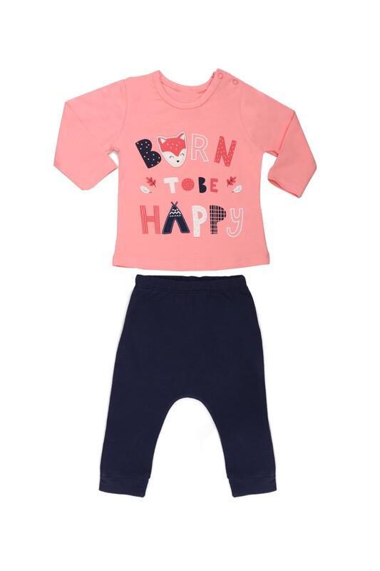 HOPPALA BABY - Hoppala Baby Baskılı Kız Bebek 2'li Takım   Pembe