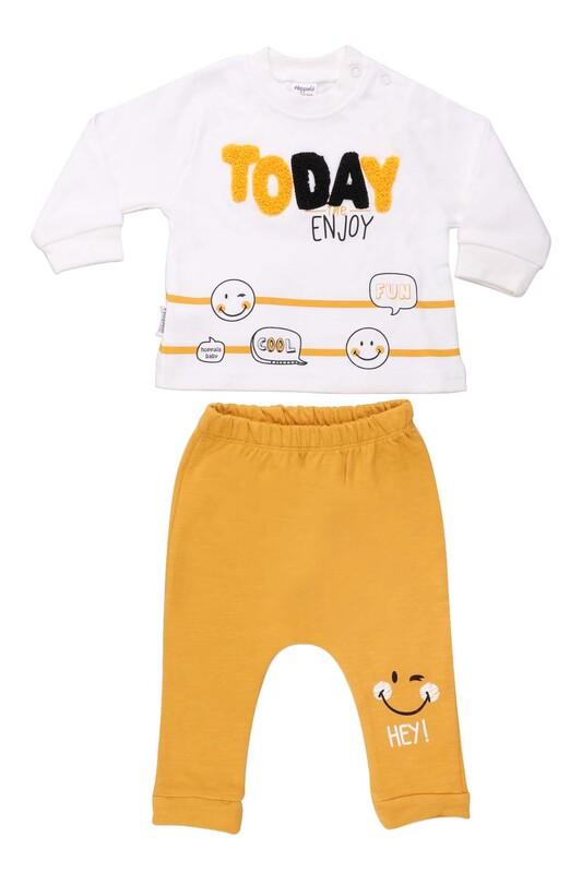 HOPPALA BABY - Hoppala Baby Today Erkek Bebek 2'li Takım 2269 | Sarı