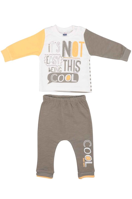 HOPPALA BABY - Hoppala Baby Yazı Baskılı Bebek Takımı 2011 | Sarı