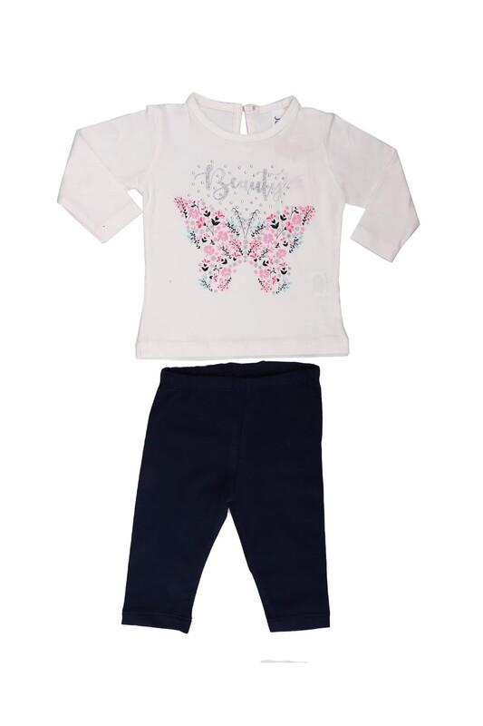 Juuta - Juuta Çiçek Baskılı Bebek Takımı | Beyaz
