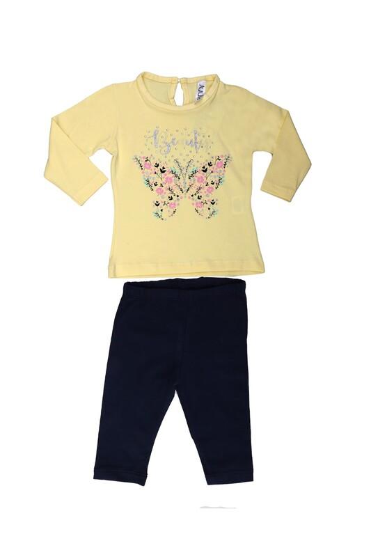 Juuta - Juuta Çiçek Baskılı Bebek Takımı | Sarı