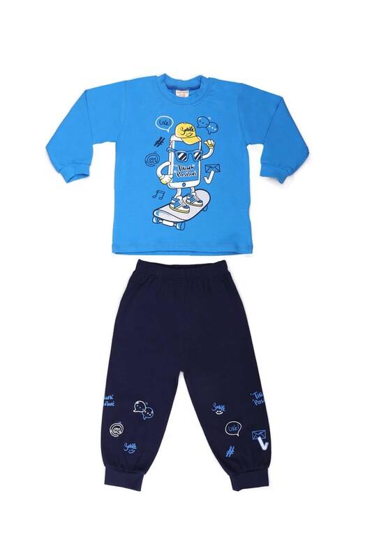 Luminoso - Luminoso Baskılı Bebek Takımı 122 | Mavi