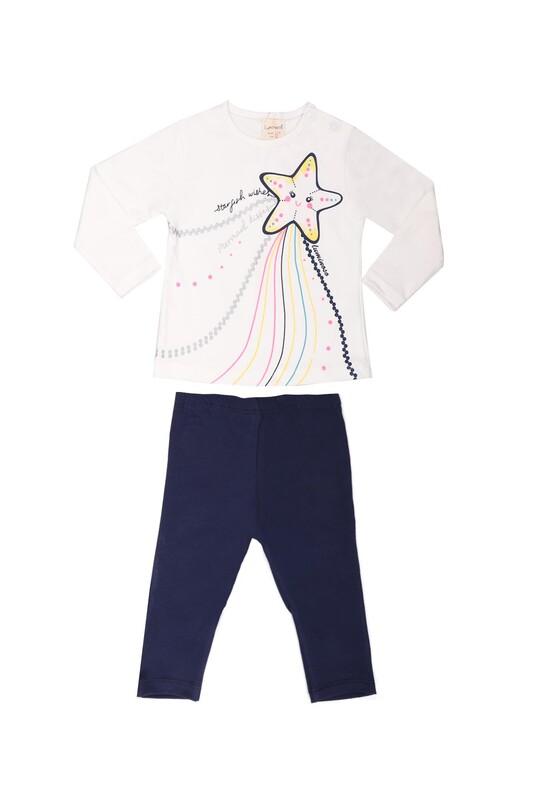 Luminoso - Luminoso Yıldız Baskılı Bebek Takımı 853 | Beyaz