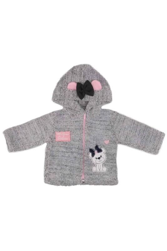 MİLLİON - Kapüşonlu Peluş Bebek 2li Takımı | Gri