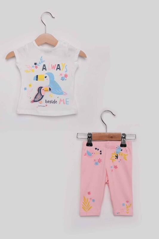 Luminoso - Always Kız Çocuk Taytlı Takım | Pudra
