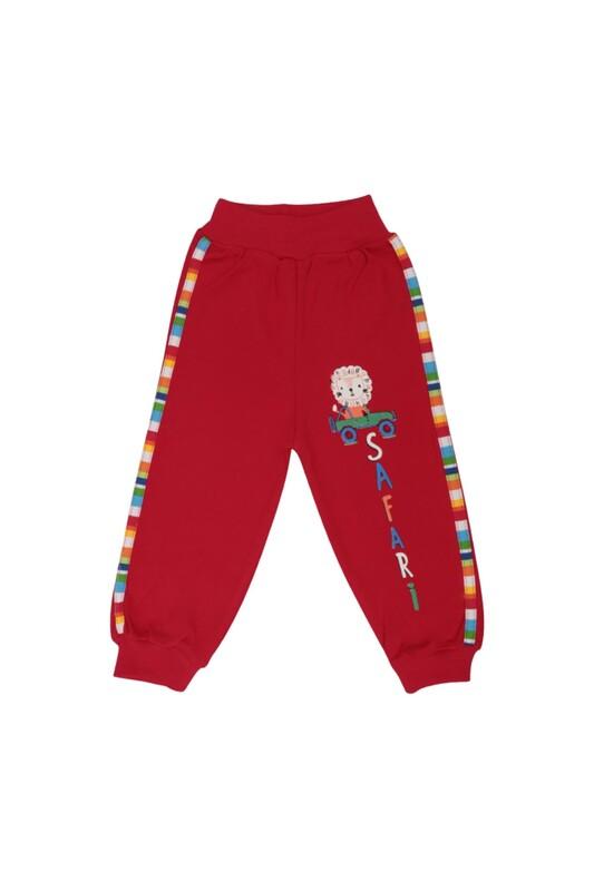 MANCAR - Aslan Desenli Bebek Tek Alt 1026 | Kırmızı