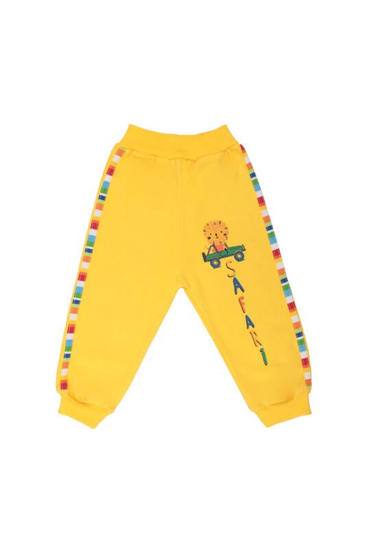 MANCAR - Aslan Desenli Bebek Tek Alt 1026 | Sarı
