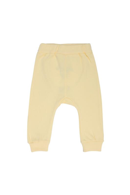 MANCAR - Kuzu Nakışlı Bebek Tek Alt 1042 | Sarı