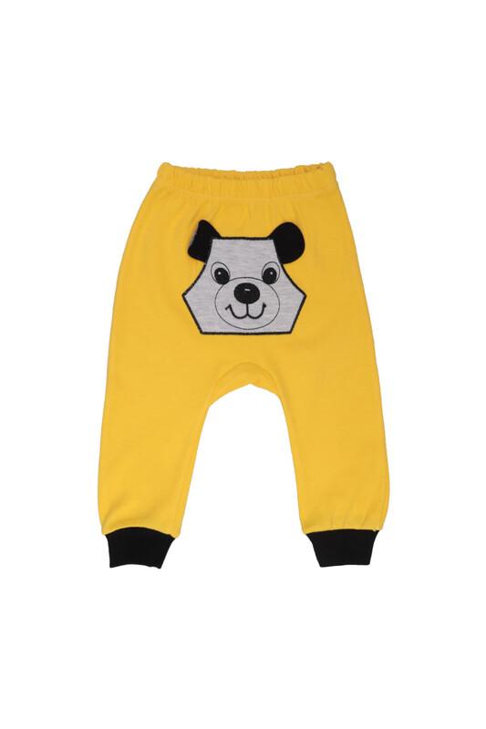 MANCAR - Köpek Nakışlı Bebek Tek Alt 1043 | Sarı