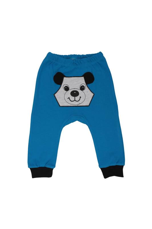 MANCAR - Köpek Nakışlı Bebek Tek Alt 1043 | Mavi